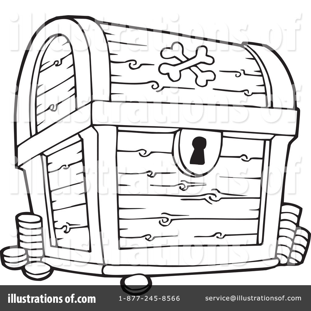 Chest Clipart Black And White.
