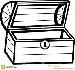 Similiar Black And White Treasure Chest Outline Keywords.