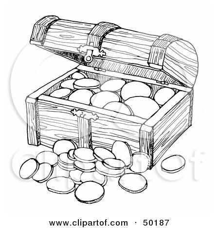 Clipart Treasure Chest Raster Art.