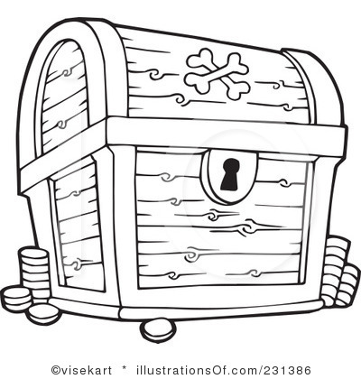 Treasure Chest Clipart Black And White.