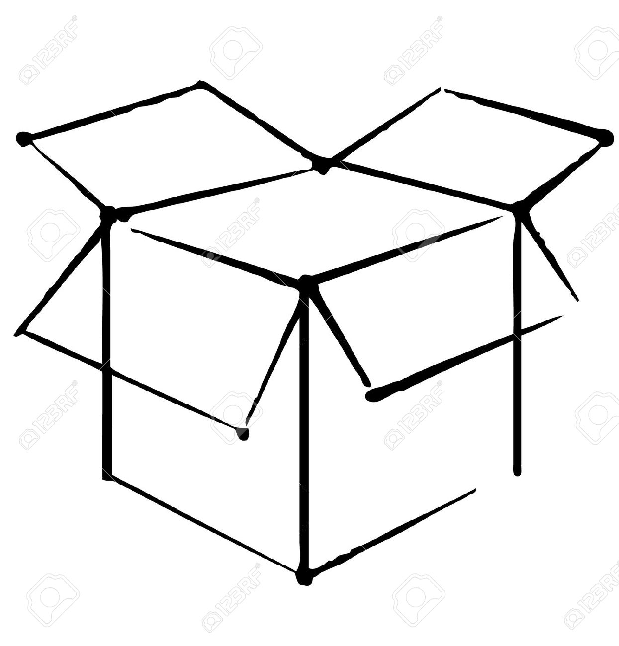 Line Art Box Designs : Treasure chest clipart black and white free clipground