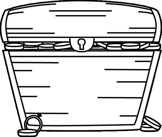 treasure chest clipart black and white free clipground