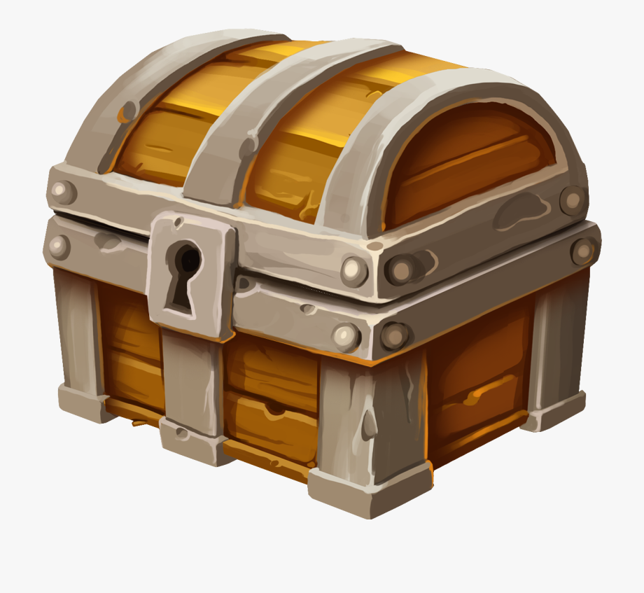 Closed Treasure Chest Png Clipart.