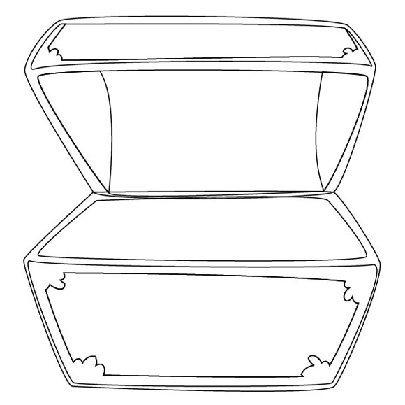 Free Treasure Chest Outline, Download Free Clip Art, Free.