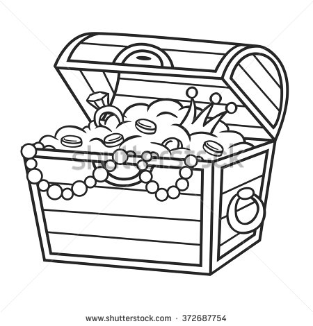 Treasure Chest Clipart Black And White Free.