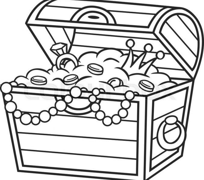 Treasure clipart outline, Treasure outline Transparent FREE.