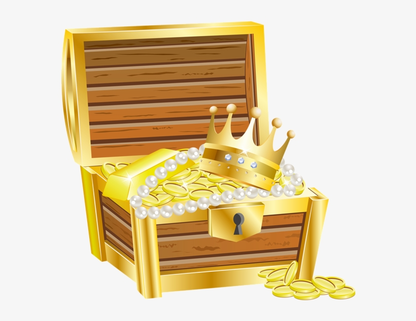 Treasure Chest With Gold Transparent Png Image.