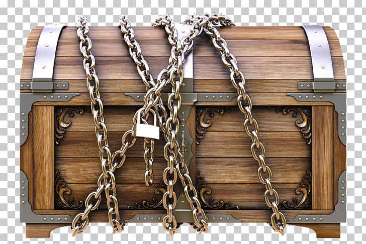 Chest Lock Chain Box, treasure PNG clipart.
