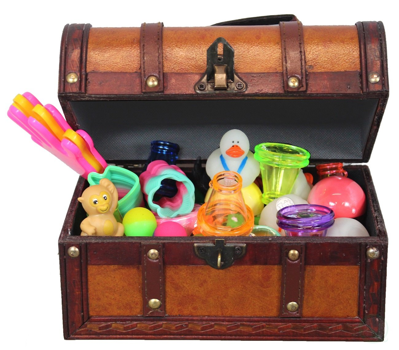 Buy Leather Treasure Chest Full of Toys (Treasure Box and 50.