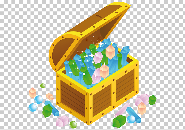 Toy outdoor play equipment yellow, Treasure chest open.