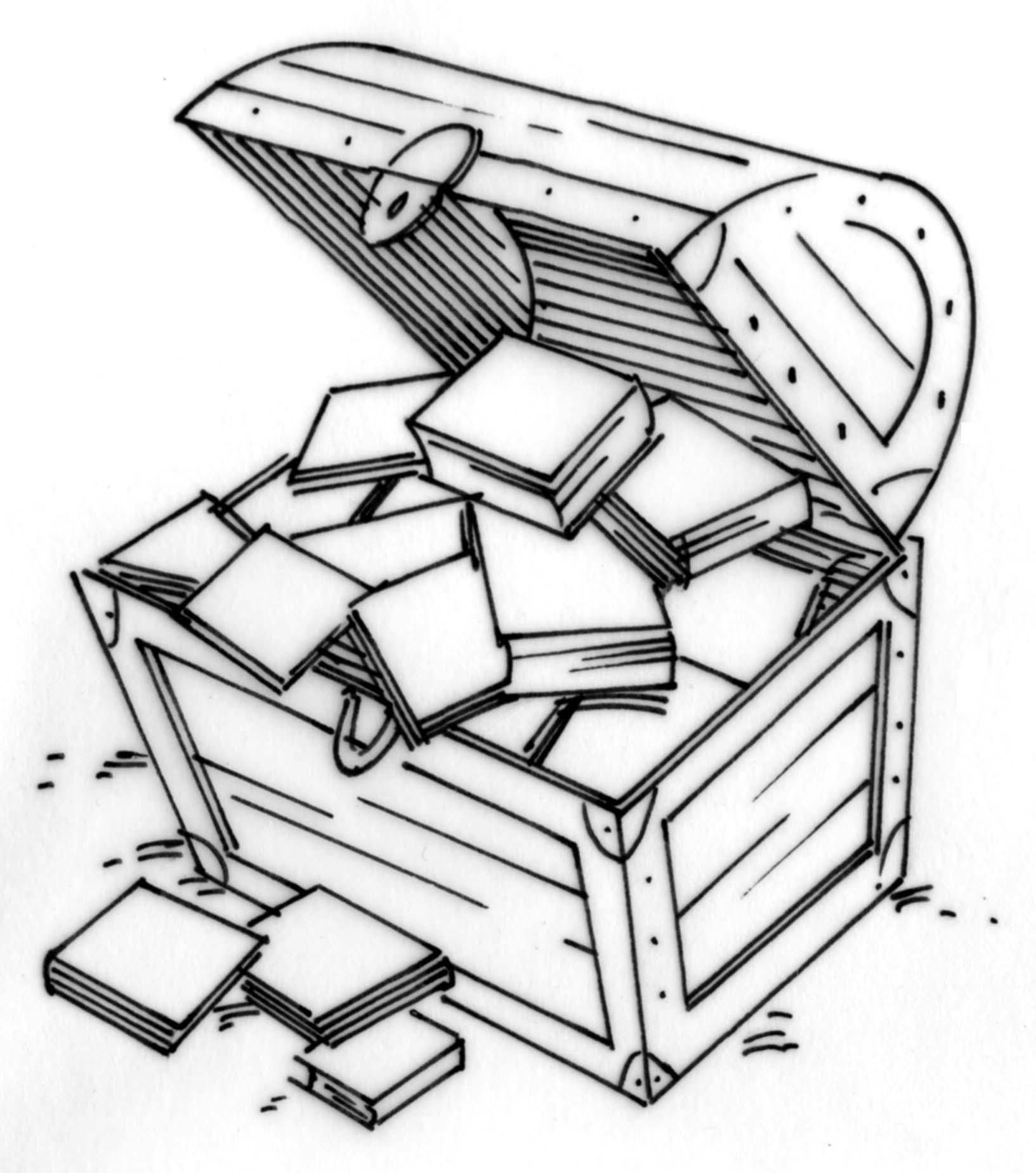 Treasure chest of books.