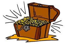 Treasure clipart stock clipart a treasure chest 2.