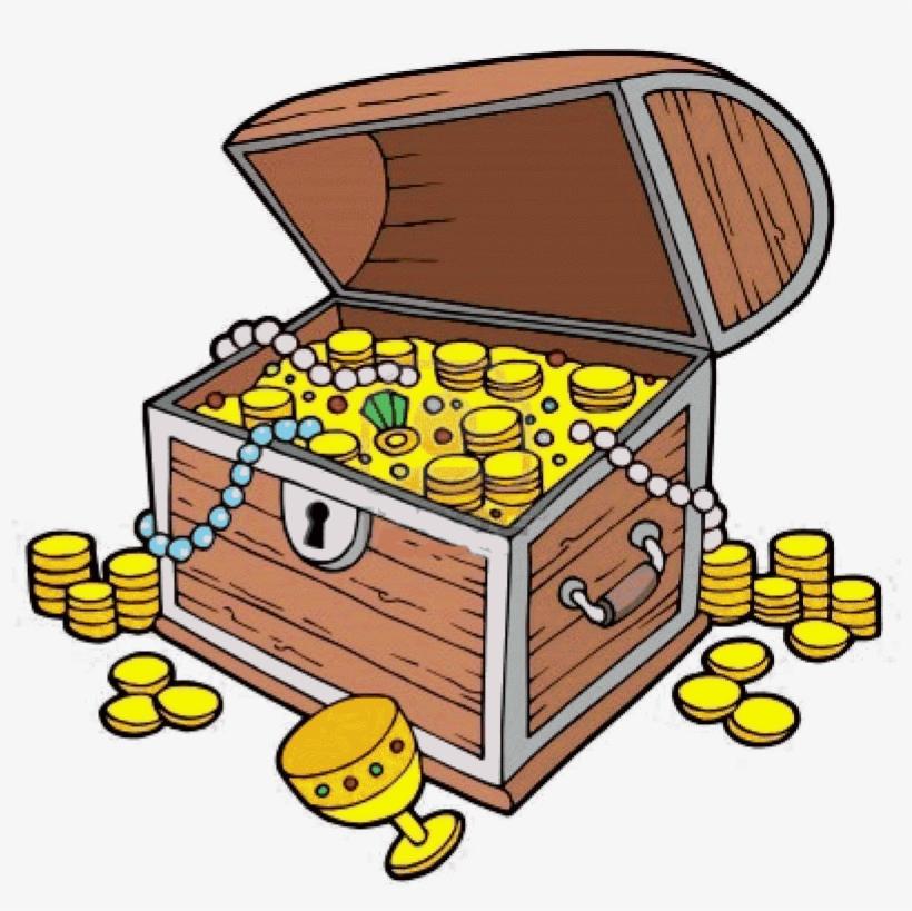 Treasure Clipart Treasure Chest Clip Art With Coins.