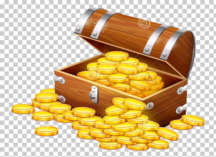 Chest Chocolate Buried treasure Gift, silver coin PNG.