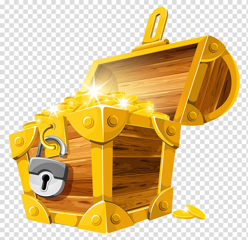 Buried treasure , Gold Coins Treasure Chest , treasure box.