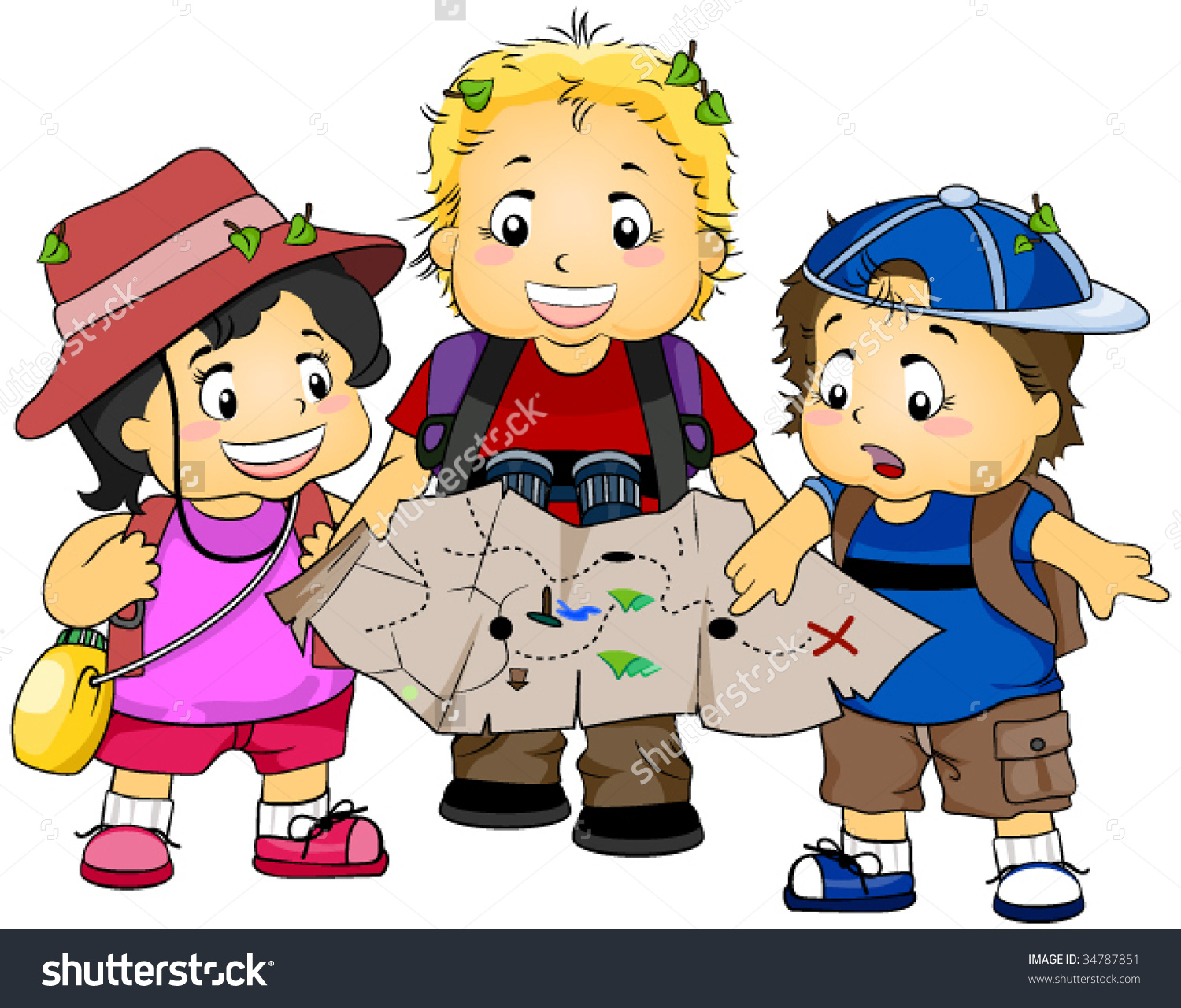Treasure Hunt Clip Art.
