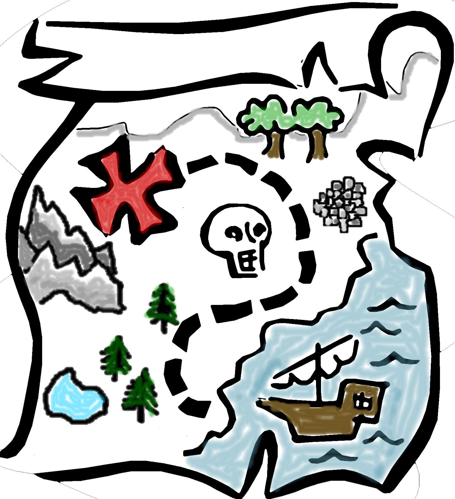 Treasure map clipart 4 » Clipart Station.
