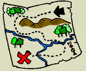 Treasure map clipart #13