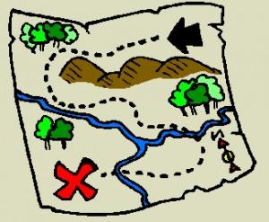 Treasure map clipart #13