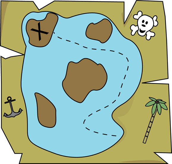 Pirate Treasure Map Clip Art.