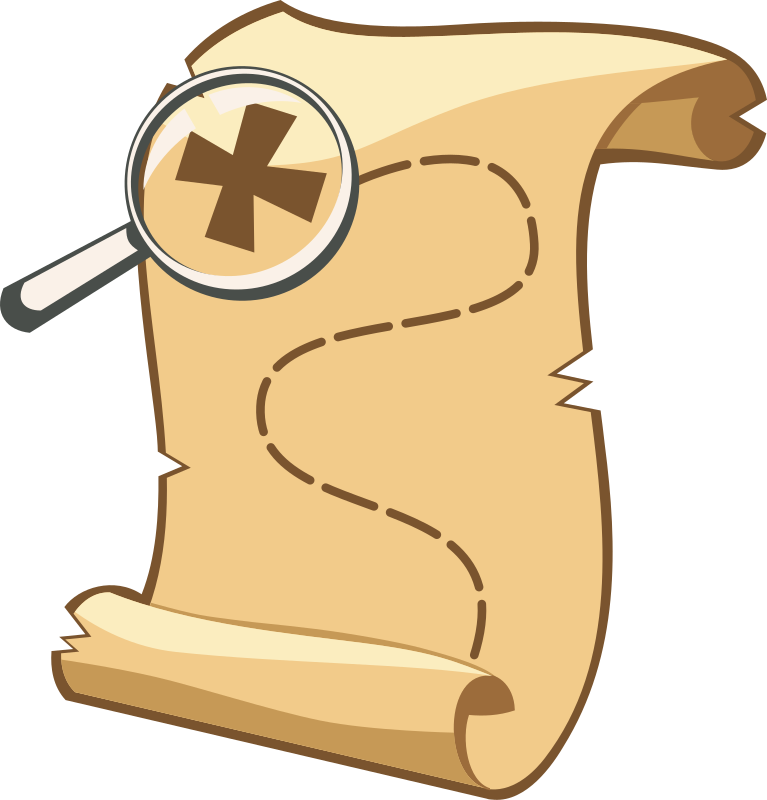Treasure map free to use clipart.