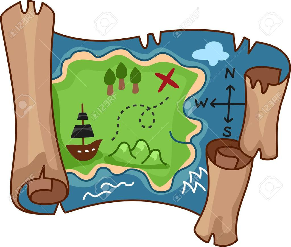 Treasure Map Clipart Rf Scroll Free By.