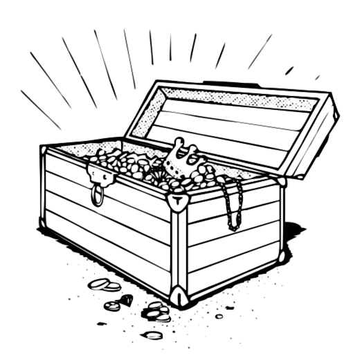Treasure Chest Clipart 1044.