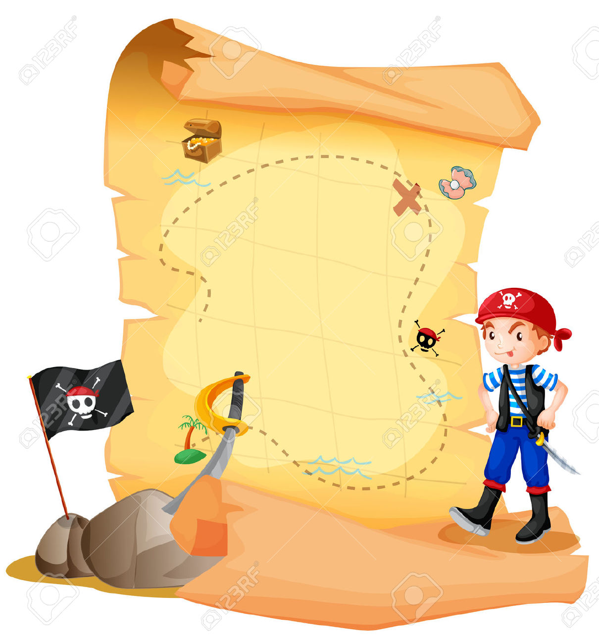 5,114 Treasure Map Stock Illustrations, Cliparts And Royalty Free.
