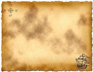 treasure map outline clipart #10