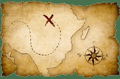 Cross on Treasure Map transparent PNG.