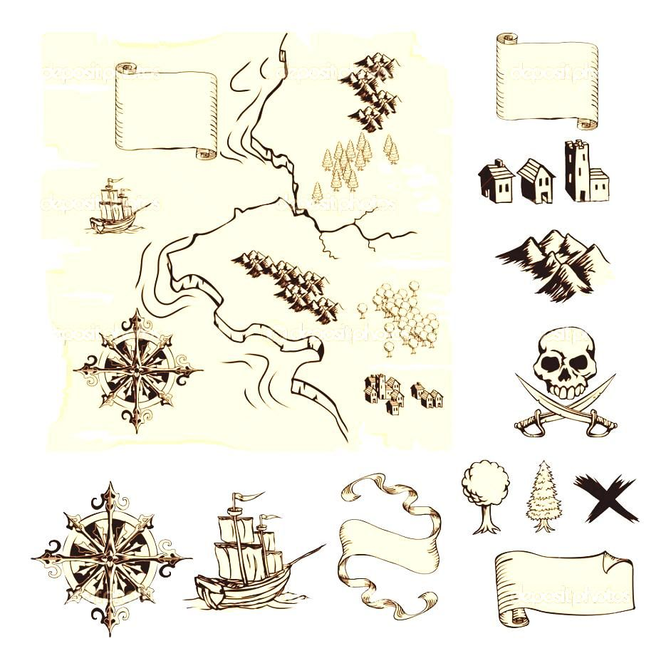 Treasure Map Symbols Clipart Cruise Decorations On Pinterest.