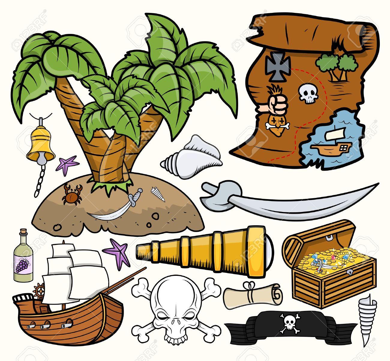 Treasure map symbols clip art dfiles 2.