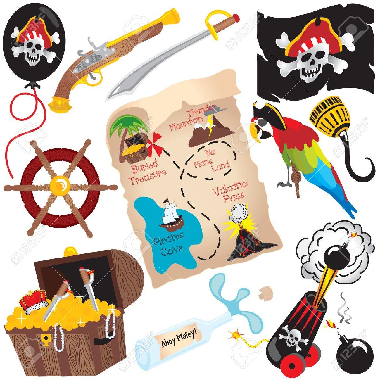 Treasure map symbols clip art dfiles.