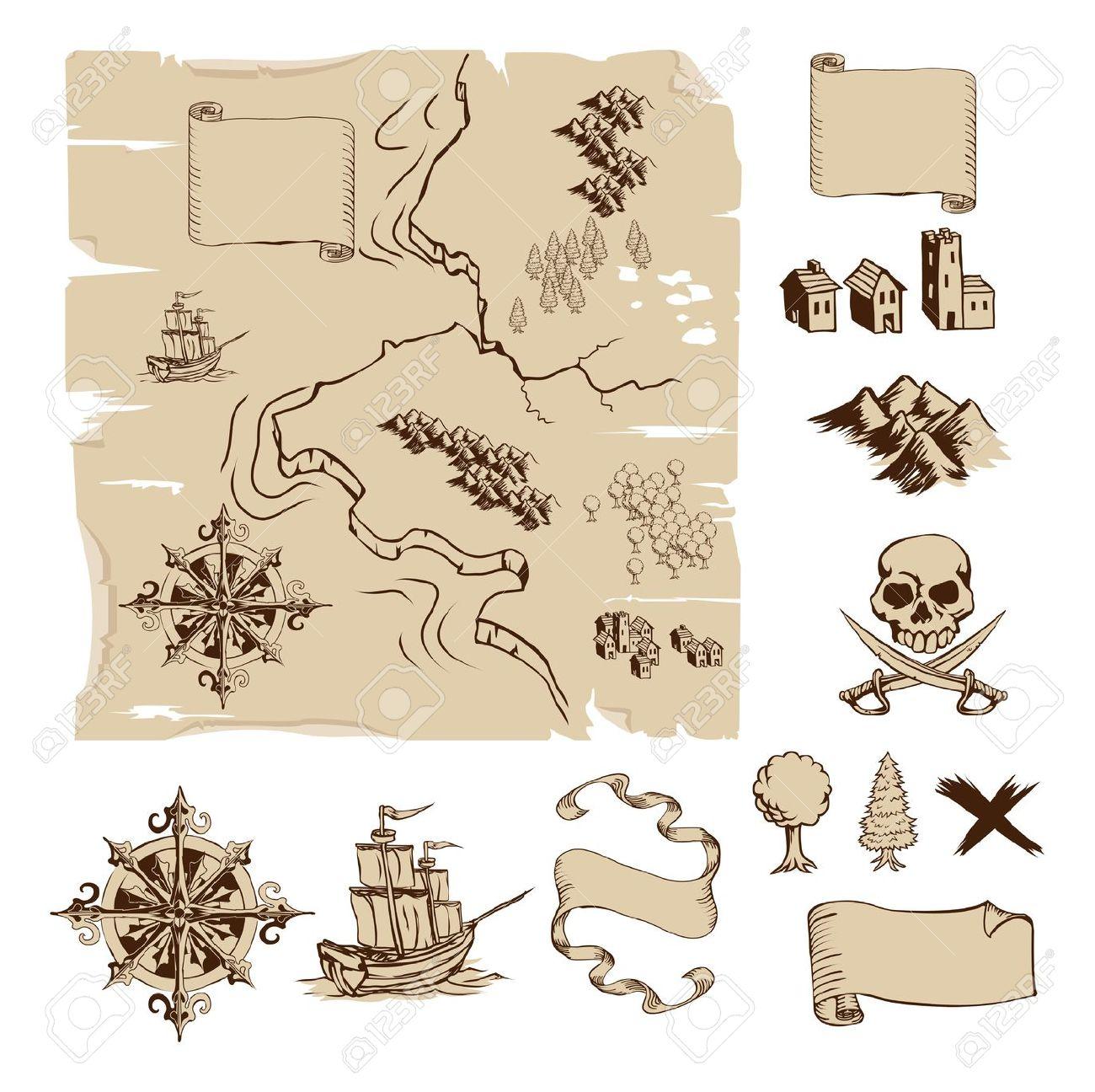 570 Treasure Map free clipart.