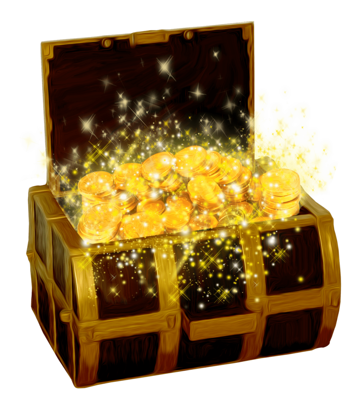Treasure With Shining Coins transparent PNG.