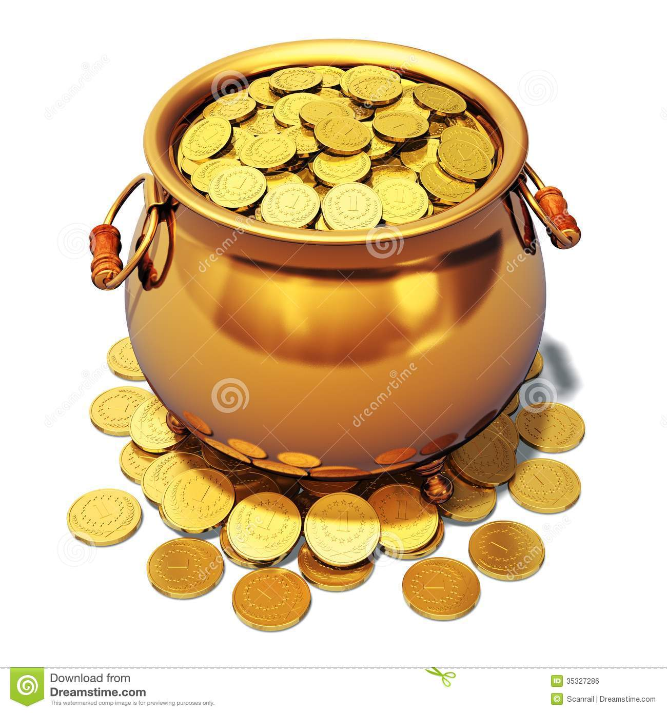 Pot Of Gold Royalty Free Stock Image.