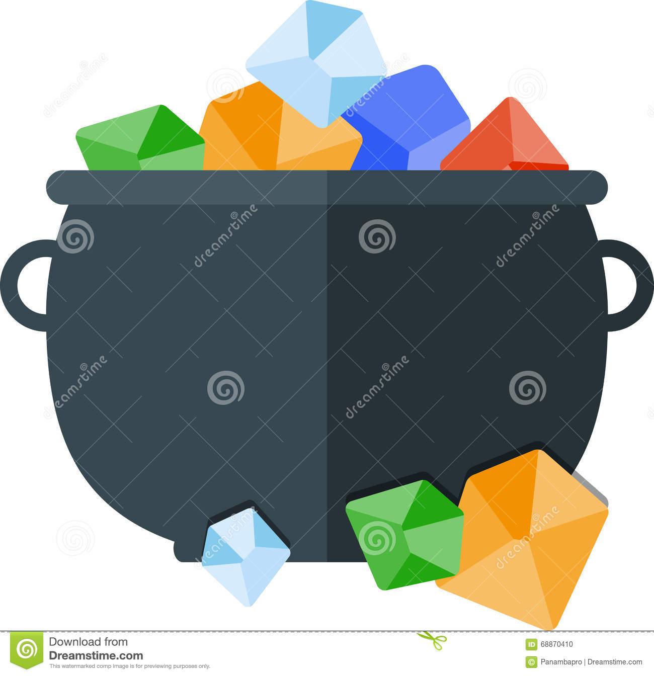 Treasure Pot Stock Vector.