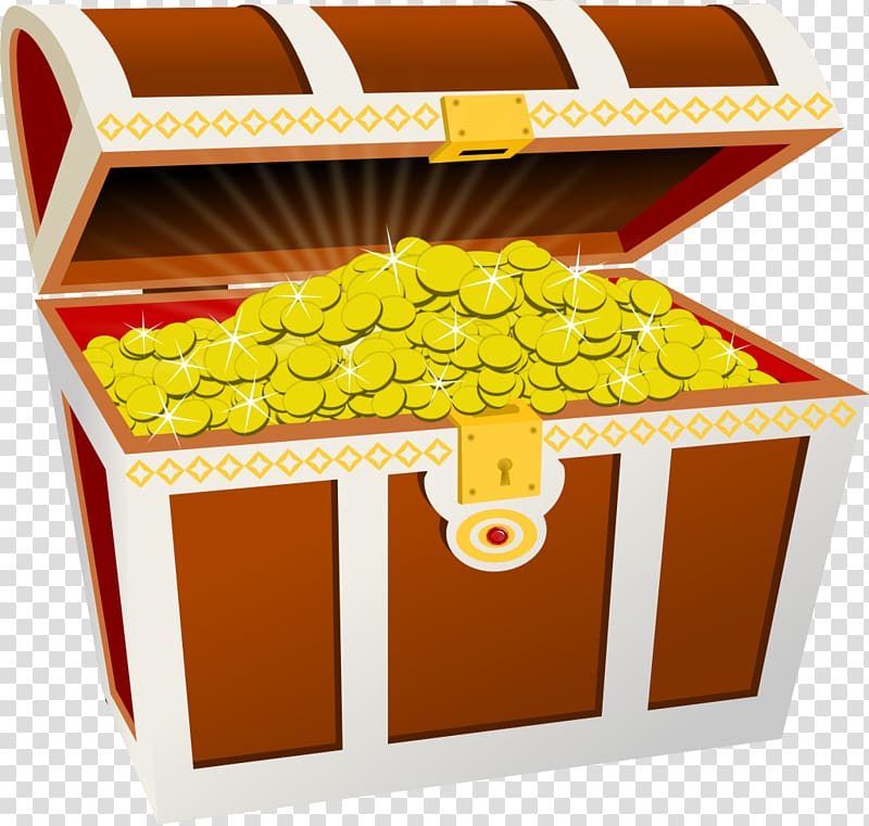 Treasure chest transparent background PNG clipart.