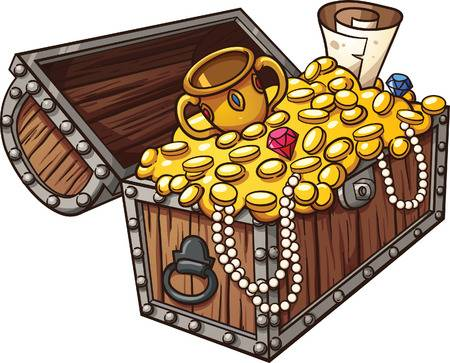 8,109 Treasure Chest Stock Vector Illustra #215960.
