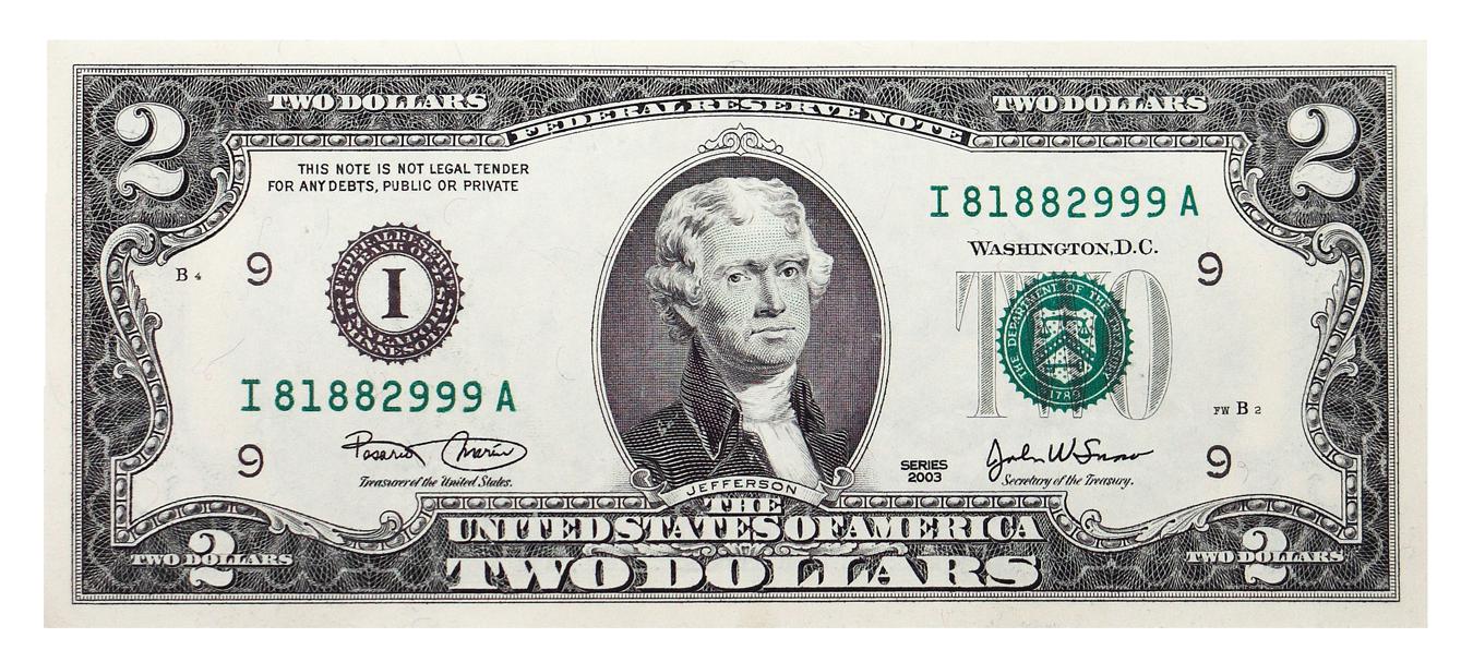United States Dollar United States two.