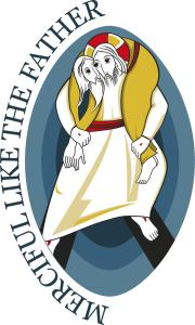 The Four Armed, Three Eyed Monster of the Year of Mercy Logo.