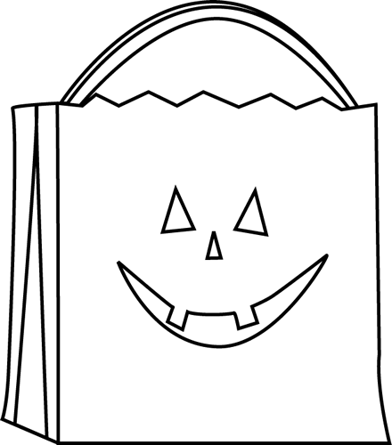 Black and White Trick or Treat Bag.