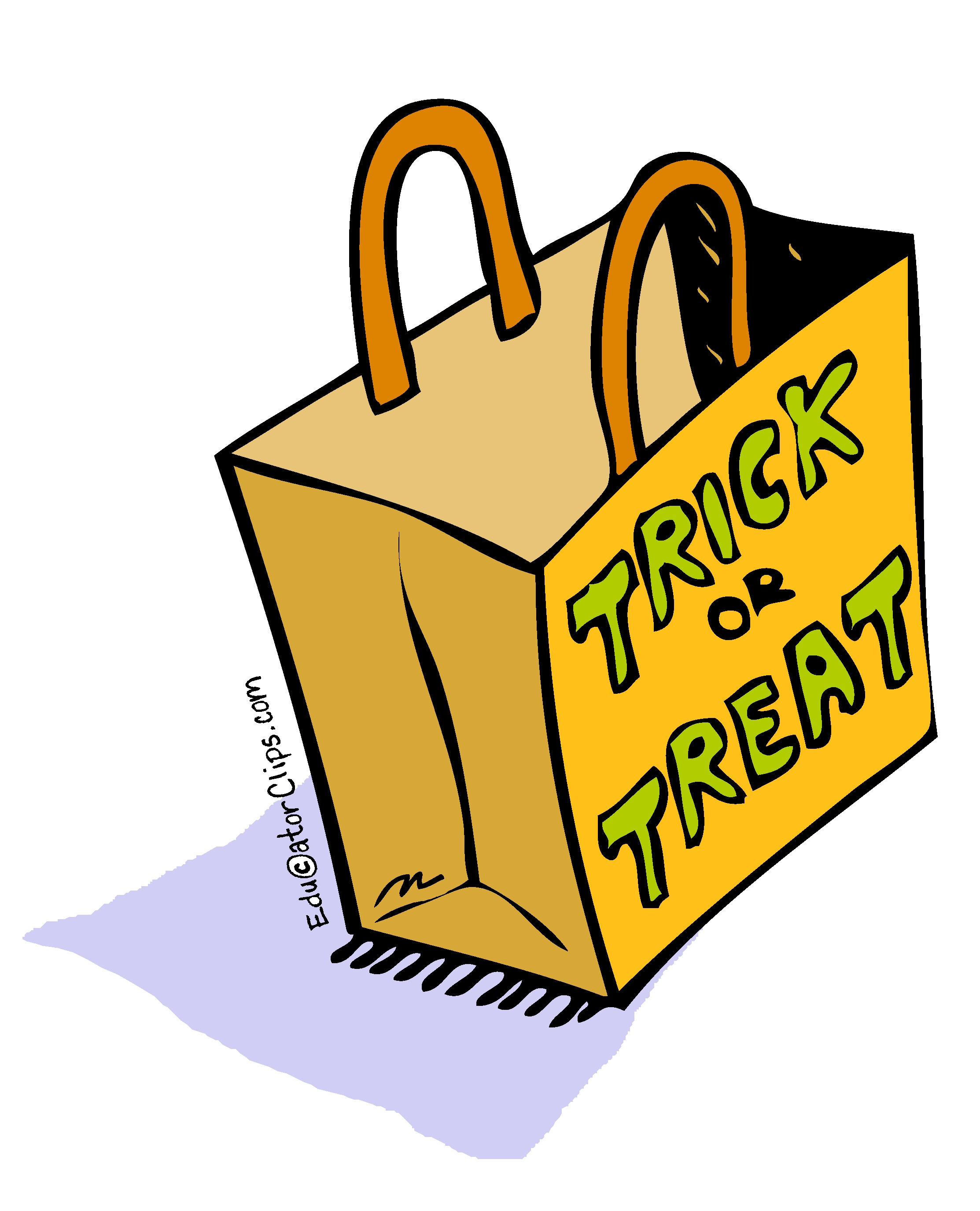 Trick or Treat Bag Clip Art.