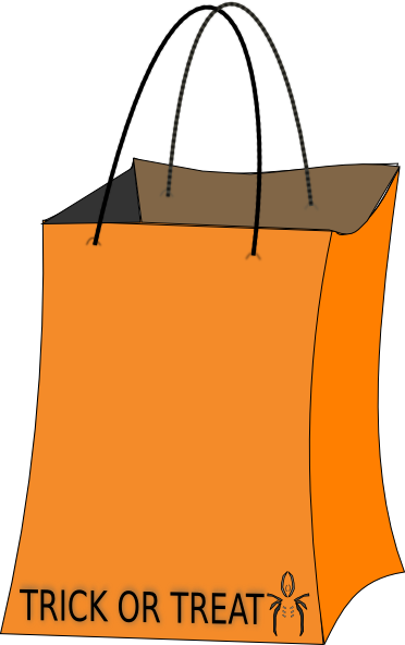 Trick or Treat Bag Clipart.