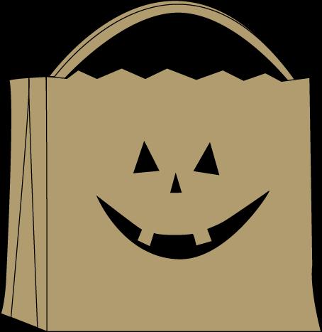 Trick or Treat Bag Clip Art.