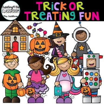Trick or Treating Fun Clip Art {Halloween Clip Art}.