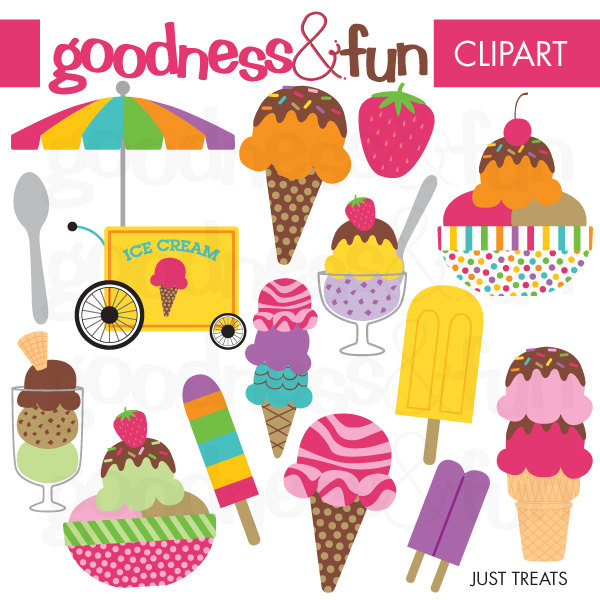 Ice cream treat clipart.