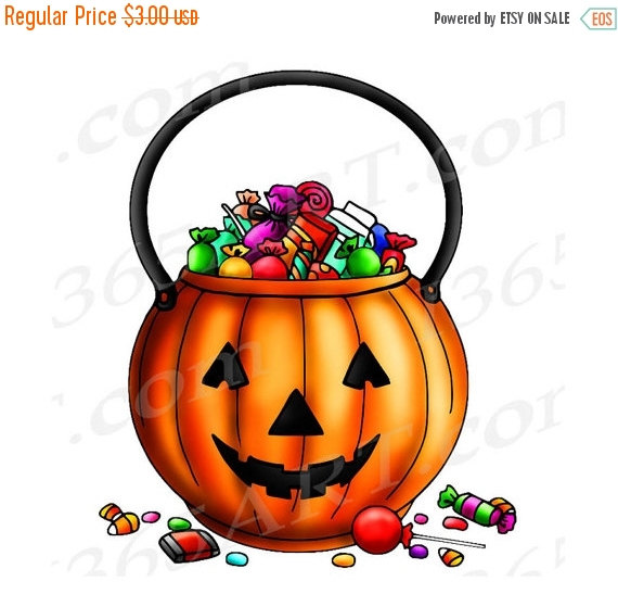 Halloween Clip Art Trick or Treat.