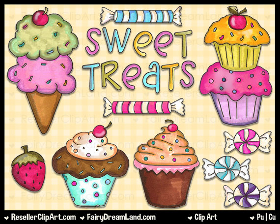 Cartoon Sweet Treat Clipart.