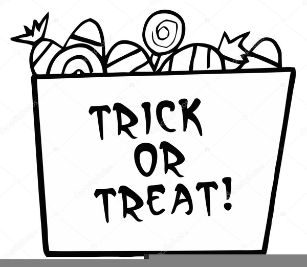 Trick Or Treat Clipart Black And White.